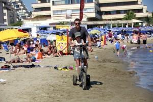 Bord de plage en Bikeboard