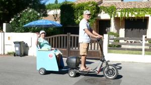 Bikeboard-charette mémé 99ans