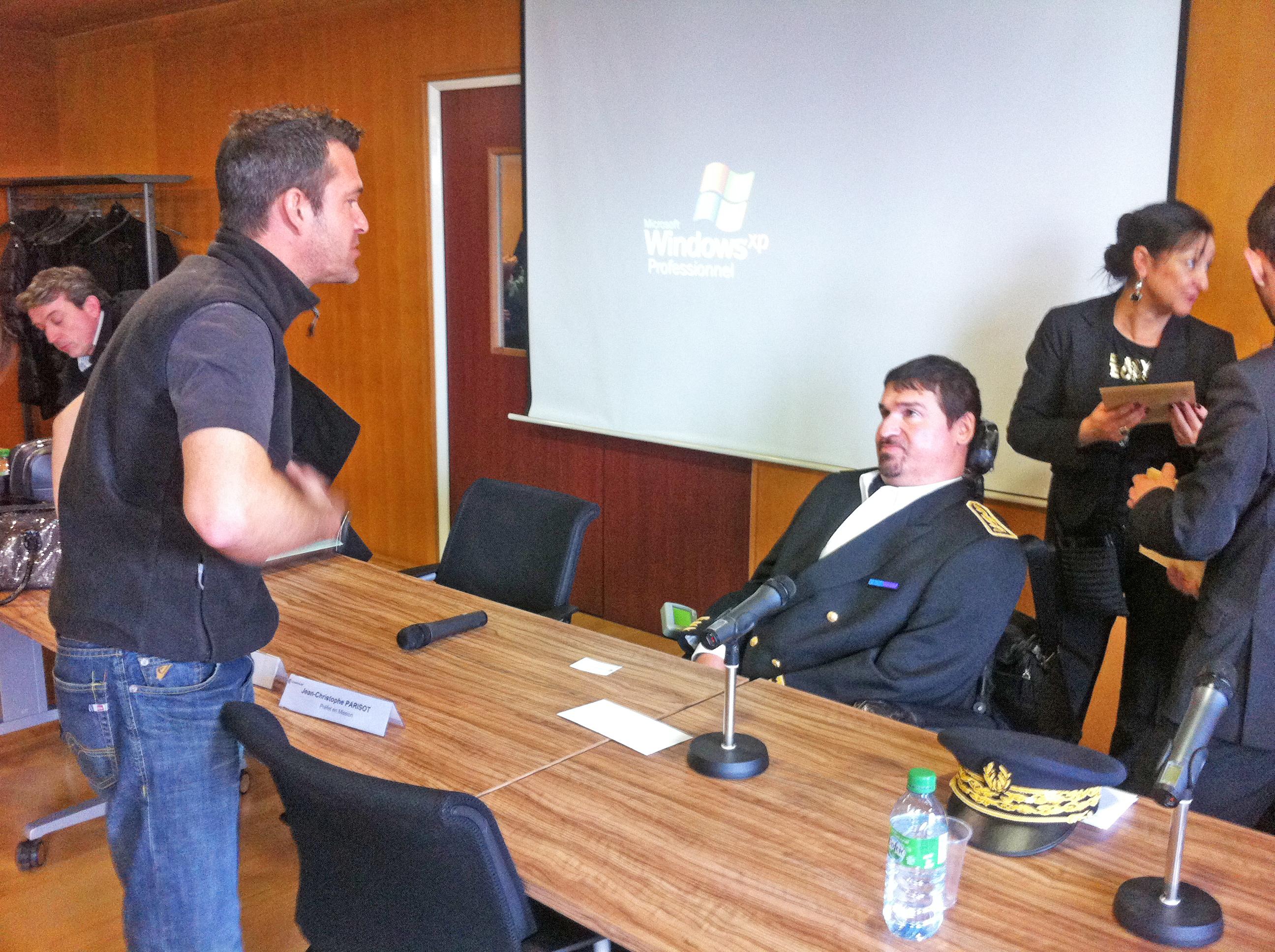 Rencontre avec monsieur le préfet Jean Christophe Parisot à la cci de Montpellier