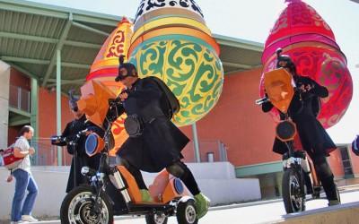Le Bikeboard comme support de théâtre de rue